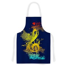 Kess InHouse Frederic Levy-Hadida 'Sound Of Nature' Artistic Apron