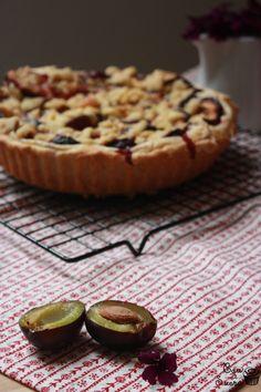 Tarta de Ciruelas Alemana (Pflaumen Streuselkuchen) – Cau de sucre Sweet Recipes, Muffin, Cooking, Breakfast, Desserts, Cakes, Food, Ideas, Gastronomia