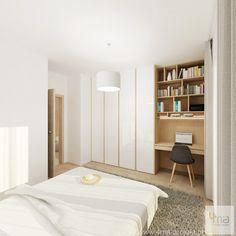 Bedroom Built In Wardrobe, Narrow Bedroom, Wardrobe Room, Bedroom Closet Design, Bedroom Furniture Design, Bedroom Decor, Walk In Closet Ikea, Home Office Closet, Home Office Bedroom