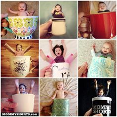 BabyMugging. The latest photo fad creates illusions of babies peeking out of mugs in a deliciously adorable way.