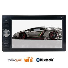 2Din Android 6.0 Car tape recorder DVD gps Player Autoradio Capacitive screen GPS Head Unit support Mirror Link Wifi 1080P Video #Affiliate
