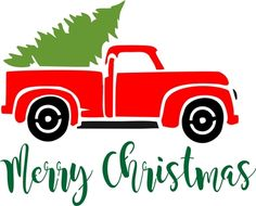 Merry Christmas with Vintage Truck & Christmas Tree 11.5 x 9.5'' Stencil