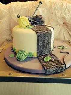 Birthday cake for a knitter