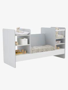 1d7e80656e6 Lit bébé 4 en 1 EVOLUNID - blanc gris clair