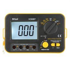 Vici VICHY VC60B+ Insulation Resistance Tester Megohmmeter Ohmmeter Voltmeter DVM 1000V 2G_� w/ LCD Backlight