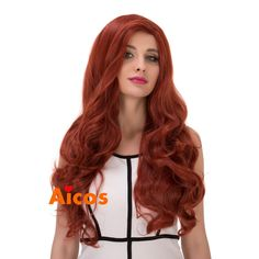 70cm Jessica Rabbit Long Copper Red Spiral Wavy Cosplay Wig Lolita Halloween Cos…
