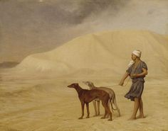 Jean-Léon Gérôme - On the Desert . Sight Hounds.
