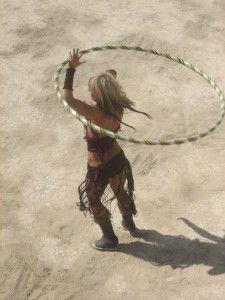Burning Man hula hooper