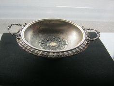Schale mit Henkel,Mesing versilbert,WMF 1893 verbrieft,Fundzustand,Durchmesser ca.24 cm,Höhe ca.9 cm von AbrahamsTroedelShop auf Etsy