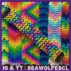 Loose Knit Bracelet on the Rainbow Loom