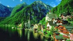 Hallstatt, Upper Austria, is a village in the Salzkammergut, a region in Austria known for its production of salt, dating back to prehistoric times. Places Around The World, The Places Youll Go, Places To See, Around The Worlds, Lake District, Wonderful Places, Beautiful Places, Amazing Places, Beautiful Pictures