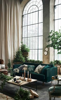 Dark Green Sofa That – Home Interior Design Ideas – Sofa Design 2020 Home Interior, Interior Architecture, Interior Livingroom, Scandinavian Interior, Interior Ideas, Modern Interior, Interior Design Inspiration, Room Inspiration, Christmas Inspiration