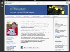Senioriverkko - virtuaalista hyvinvointia ikääntyneille -projektin nettisivujen etusivu näytti tältä. Projekti toimi 2011-2013.
