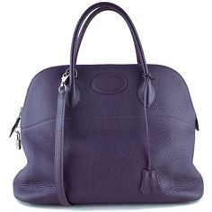 64b5e6663b68 Pre-Owned Hermes Raisin Purple 35 37cm Mou Bolide Shoulder Tote Bag  ( 5