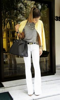 Look: Thassia Naves - Calça Flare