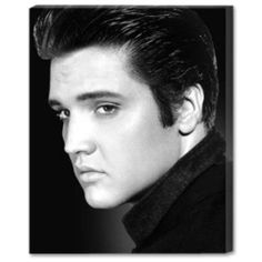 "Elvis 11""x 14"" Photo Large Stretched Canvas"