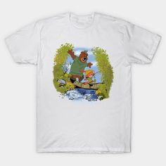 SHERWOOD AWAITS T-Shirt - Robin Hood T-Shirt is $14 today at TeePublic! Calvin And Hobbes, V Neck T Shirt, Robin, Graphic Tees, Adventure Awaits, Fabric, Mens Tops, Curvy, Shirts