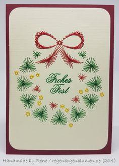 Weihnachtskarten - Fadengrafik Grußkarten Set 264 Weihnachten - ein Designerstück von Bastelfan1809 bei DaWanda