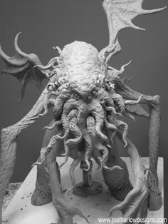 Cthulhu figure by Joel Harlow