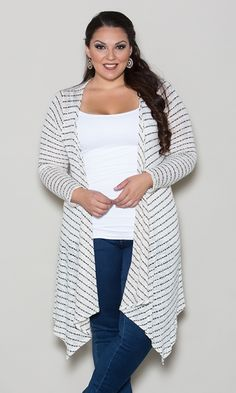 Maxi cardigan. School. Comfy. Basic. Plus size