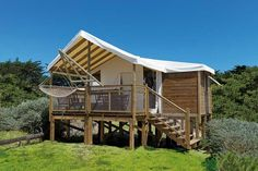rental cabin on stilts - CAMPING LOU PIGNADA ***** - Atlantic coast