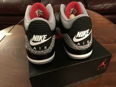 95c28857583320 Air Jordan 3 Retro OG Black Fire Red Cement Grey. Size 13. New Dead stock   fashion  clothing  shoes  accessories  mensshoes  athleticshoes (ebay link)