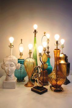 fun vintage lamps