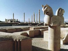 Takht-e Jamshid, ancient world heritage site in southern Iran.  Commonly known as Persepolis, former capital of the Achaemenid Empire.