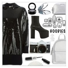 """Heads up ! #hoodies"" by arohii ❤ liked on Polyvore featuring Miss Selfridge, New Look, MICHAEL Michael Kors, Balenciaga, Emilio Pucci, MAC Cosmetics and Hoodies"