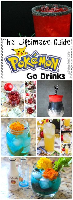 OMG these Pokemon Go drinks are seriously amazeballs! From Bulbasaur fruit punch to a Pichu shot, this post has all the best Pokemon Go drinks!