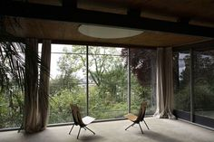 Jean Prouve, house and studio, France, 1954 Interior Architecture, Interior And Exterior, Interior Design, Jean Prouve, Deco Design, Art Design, Le Corbusier, Home Art, Mid-century Modern