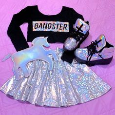 movie date outfit Girls Fashion Clothes, Teen Fashion Outfits, Kids Fashion, Womens Fashion, Unicorn Fashion, Unicorn Outfit, Unicorn Clothes, Cute Girl Outfits, Kids Outfits