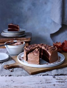 Chocoholics, this ultimate chocolate cake recipe by Nancy Birtwhistle is everything you've been dreaming of. This dark, rich yet light cake has melted chocolate in the sponge to give it a fudgy texture