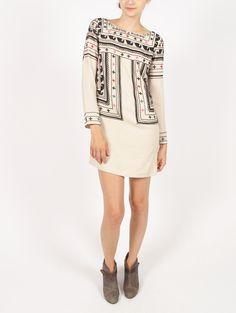 Beaded Wool Dress - Dresses - Shop
