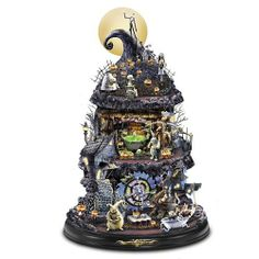Tim Burton Nightmare Before Christmas 15th Anniversary Edition Tabletop Sculpture by The Bradford Exchange: Amazon.com: Home & Kitchen