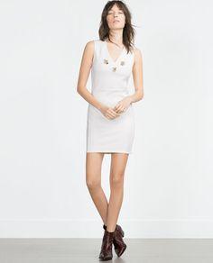 ZARA - WOMAN - JACQUARD GEMSTONE DRESS