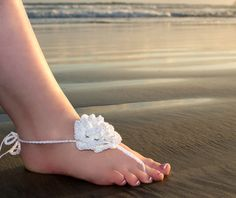 Barefoot Sandals, Crochet Bare Foot Beach Wear, Foot Accessories, Barefoot Beach Wedding Shoes by alanemarie on Etsy https://www.etsy.com/listing/399208553/barefoot-sandals-crochet-bare-foot-beach