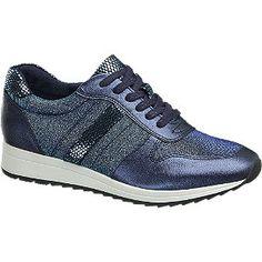#Graceland #Sneaker #blau für #Damen Absatz 2 5 cm Schuhspitze rund Farbe blau Laufsohle TPR Obermaterial Synthetik Innenmaterial Textil Synthetik