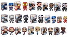 Captain America: Civil War Funko Pop Line and Exclusive Pops Revealed - http://www.entertainmentbuddha.com/captain-america-civil-war-funko-pop-line-and-exclusive-pops-revealed/