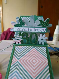 Happy 30th Birthday, Fancy, Create, Box, Cards, Boxes, Playing Cards, Maps