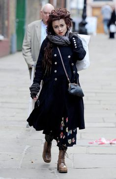 helena bonham carter, a woman after my own heart...I love her messy gothy 90s style