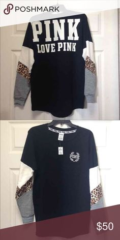 VS VARSITY CREW NO LONGER SOLD Super cute.. photos have tags but now worn.. catch this deal! These are hard to find now! No peeling letters great condition PINK Victoria's Secret Sweaters Crew & Scoop Necks
