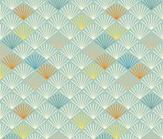 Shells bleu fabric by feinstarbeiten on Spoonflower - custom fabric