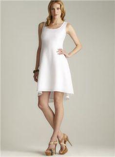 Hi-lo Linen Dress