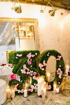 We love this statement marquee numbers celebrating the birthday girls new age