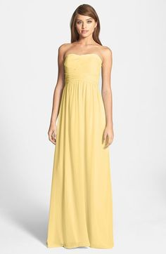 b5e08d7a84e  Stephanie  Strapless Ruched Chiffon Gown (Regular   Plus Size). Green Bridesmaid  DressesWedding BridesmaidsHalter DressesWomen s DressesCheap ...