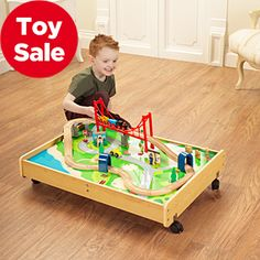 Asda Wooden Train Set £35 I love this one . tuck it under the bed when done