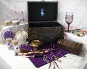 Complete Altar Set / Collection - Custom Crafted to your Specifications - Example:Triple Moon Goddess