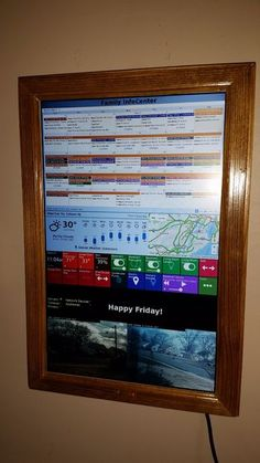 Digital Wall Calendar and Home Information Center