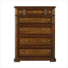 Antique Oak 5 Drawer High Boy Dresser Downstairs